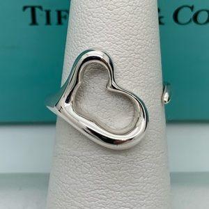 Tiffany & Co.925 Elsa Peretti Open Heart Ring